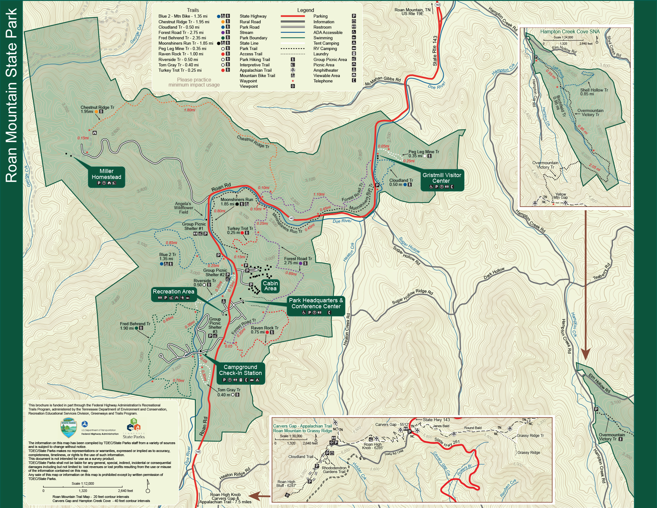 Roan Mountain State Park — Tennessee State Parks on gunpowder falls state park trail map, fairy stone state park trail map, high bridge trail state park trail map, tuckahoe state park trail map, cunningham falls state park trail map, gambrill state park trail map, leesylvania state park trail map, susquehanna state park trail map, grayson highlands state park trail map, occoneechee state park trail map, first landing state park trail map, hungry mother state park trail map, mason neck state park trail map, jones gap state park trail map, kiptopeke state park trail map, sky meadows state park trail map, caledon state park trail map, westmoreland state park trail map, patapsco valley state park trail map, cape henlopen state park trail map,