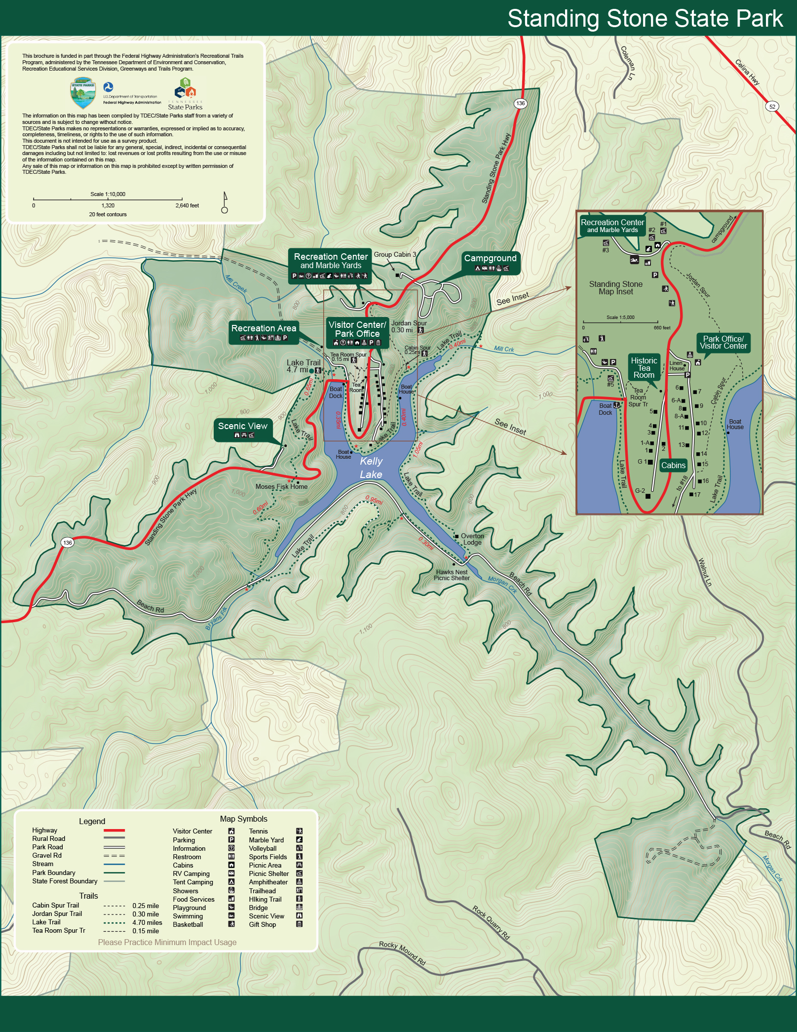 Standing Stone State Park Tennessee State Parks - Tenn map