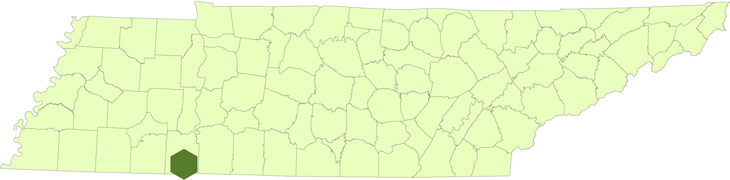 Map of park location in Tennessee